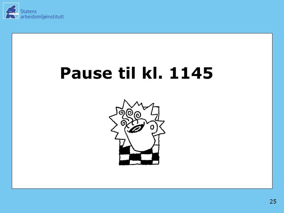 25 Pause til kl. 1145