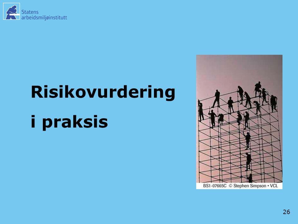26 Risikovurdering i praksis