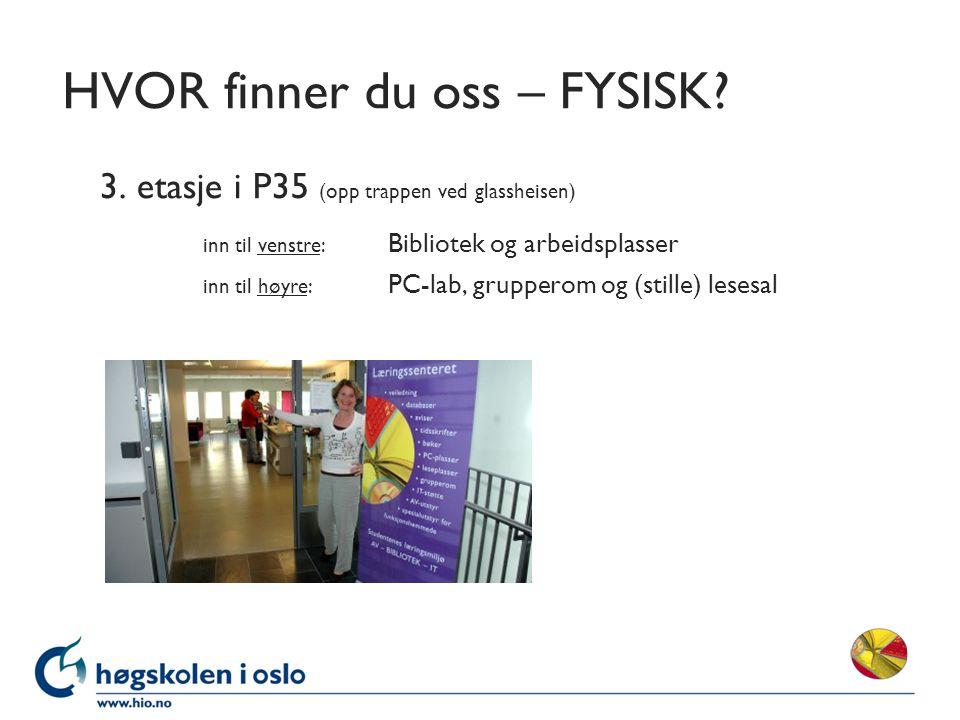 HVOR finner du oss – FYSISK. 3.