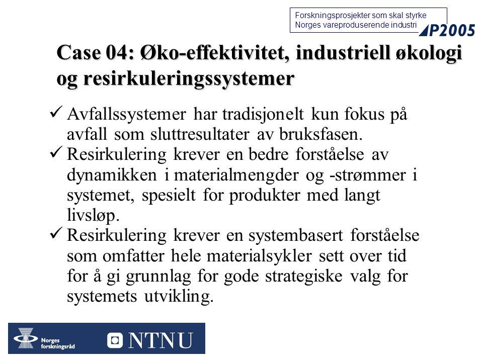 25 Forskningsprosjekter som skal styrke Norges vareproduserende industri Avfallssystemer har tradisjonelt kun fokus på avfall som sluttresultater av bruksfasen.