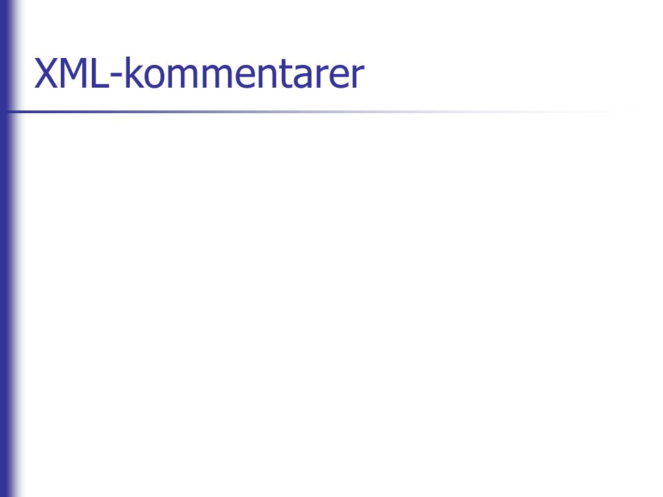 XML-kommentarer