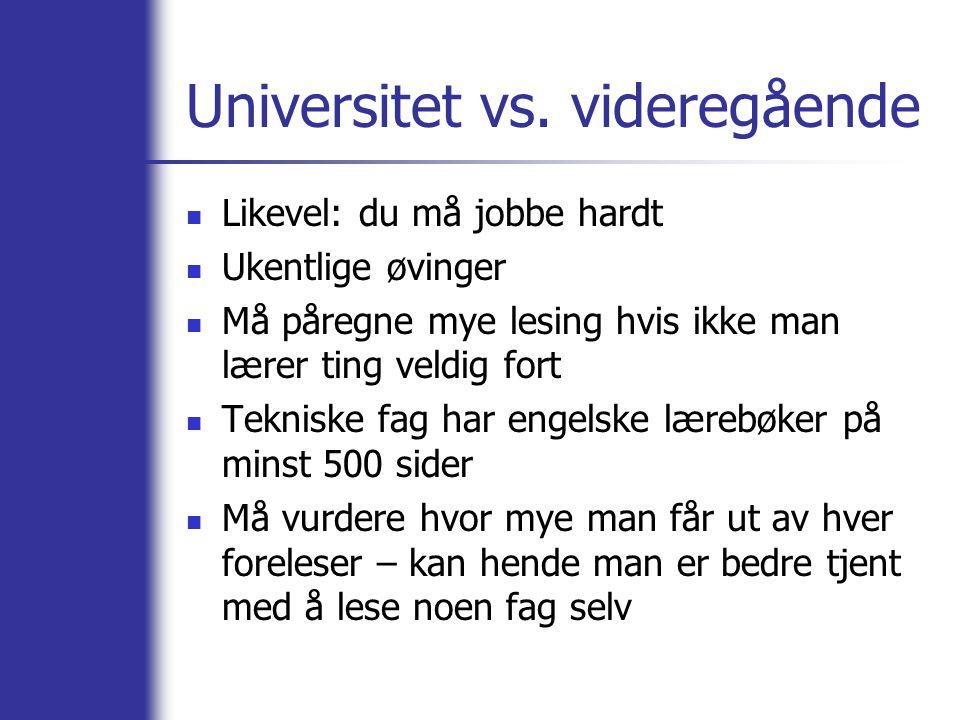 Universitet vs.