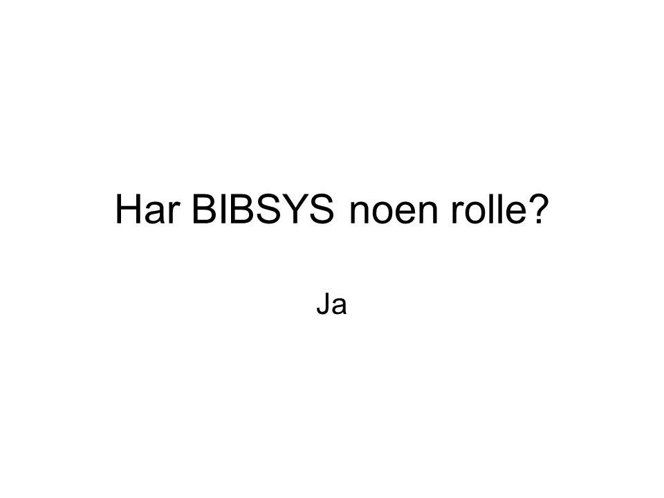 Har BIBSYS noen rolle Ja