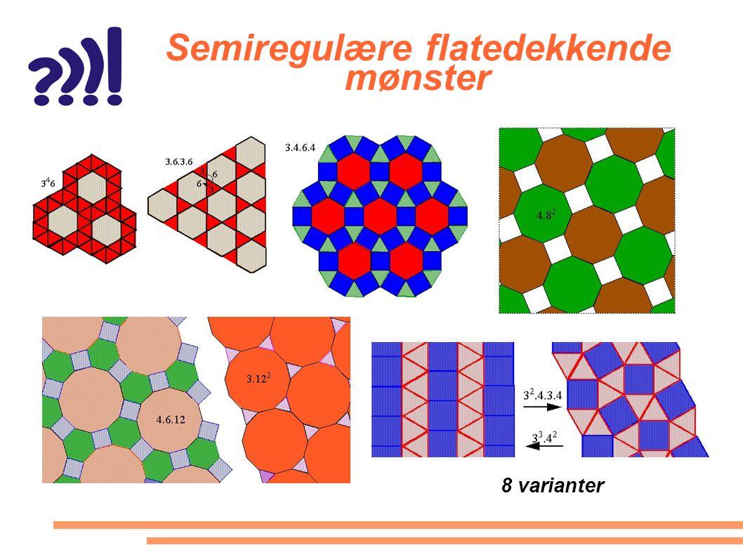 Semiregulære flatedekkende mønster 8 varianter