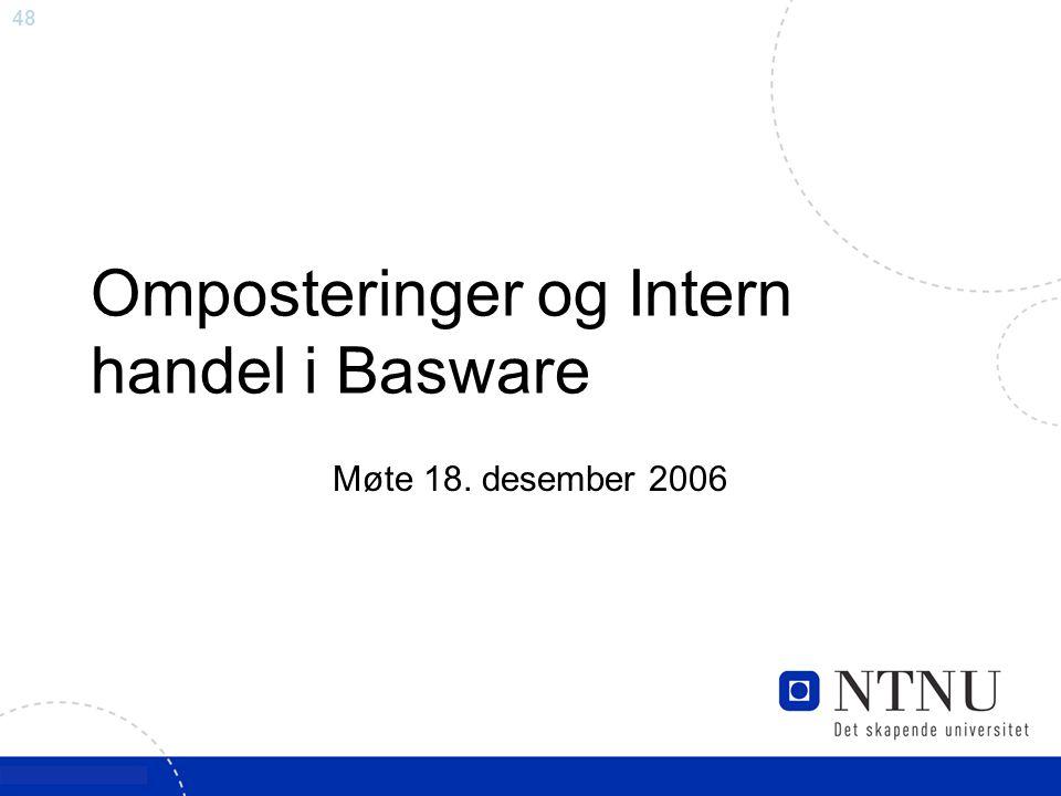 48 Omposteringer og Intern handel i Basware Møte 18. desember 2006
