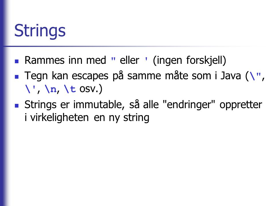 Strings Rammes inn med