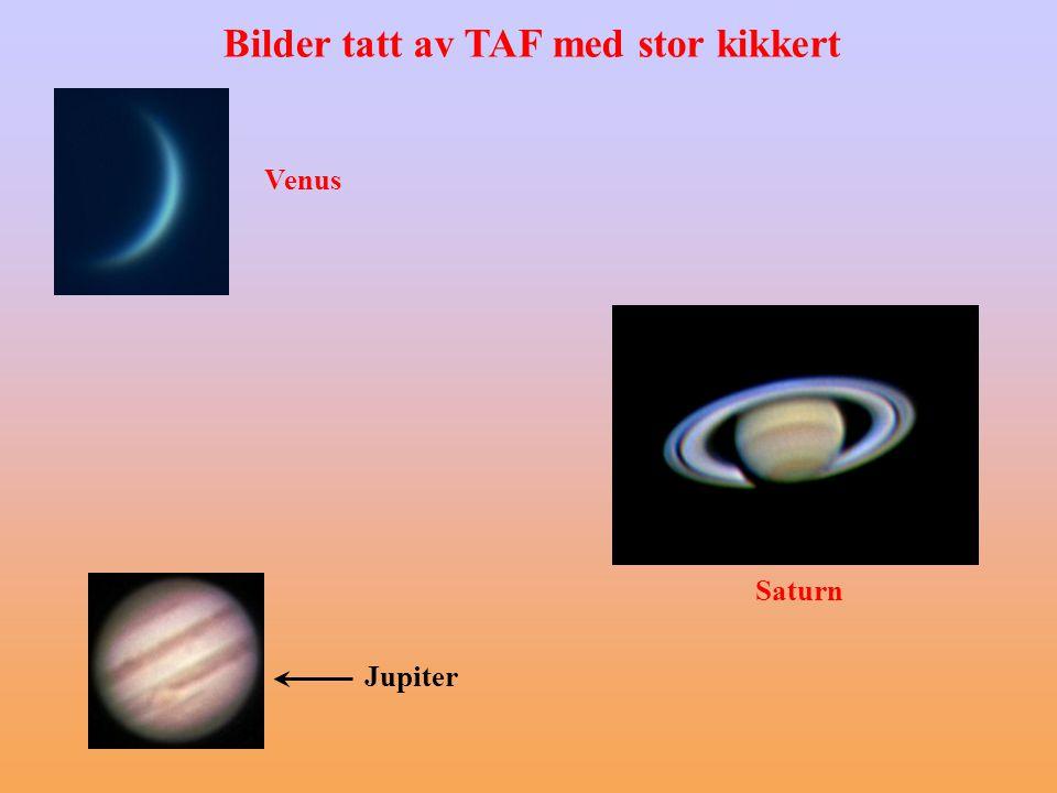 Venus Jupiter Saturn Bilder tatt av TAF med stor kikkert