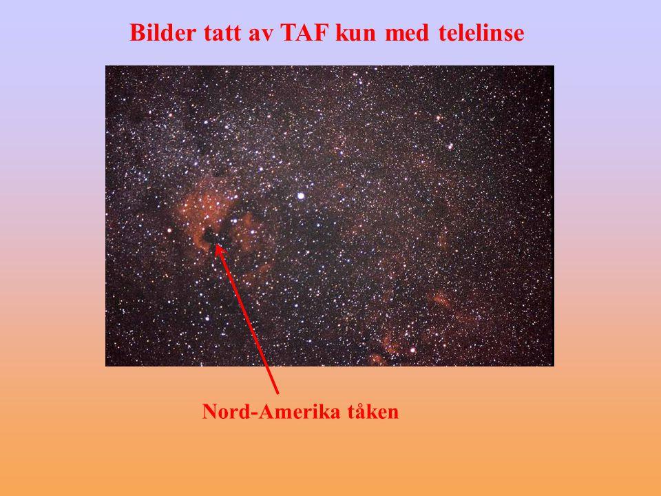 Nord-Amerika tåken Bilder tatt av TAF kun med telelinse