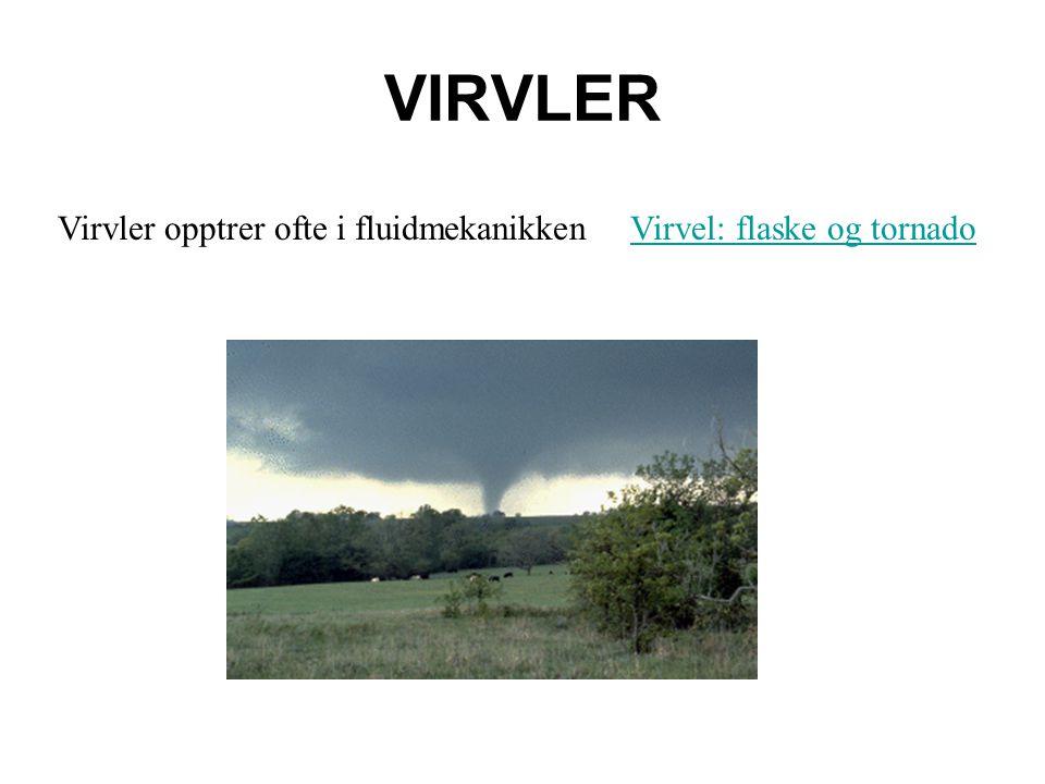 VIRVLER Virvler opptrer ofte i fluidmekanikkenVirvel: flaske og tornado