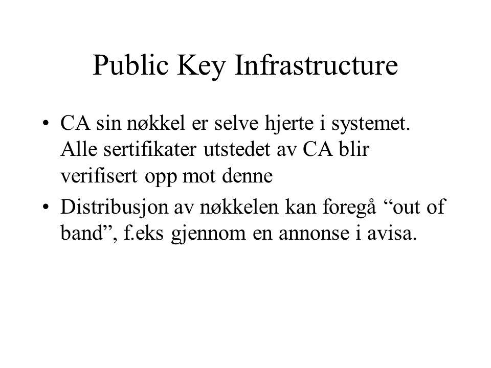Public Key Infrastructure CA sin nøkkel er selve hjerte i systemet.