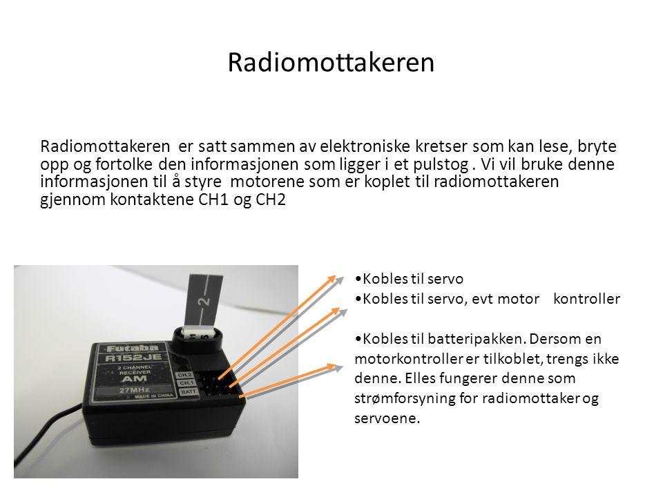 Radiomottakeren Radiomottakeren er satt sammen av elektroniske kretser som kan lese, bryte opp og fortolke den informasjonen som ligger i et pulstog.