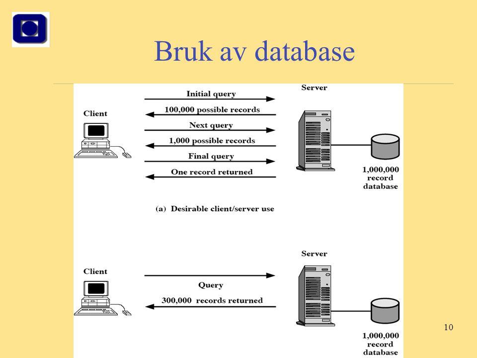 10 Bruk av database