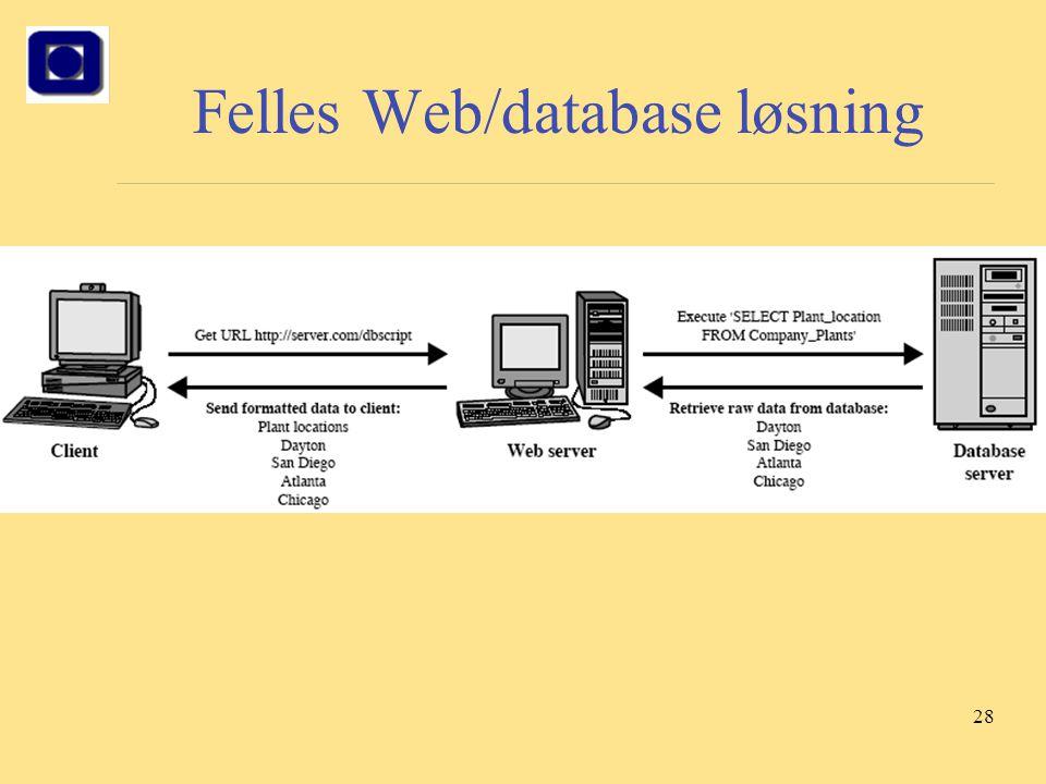 28 Felles Web/database løsning