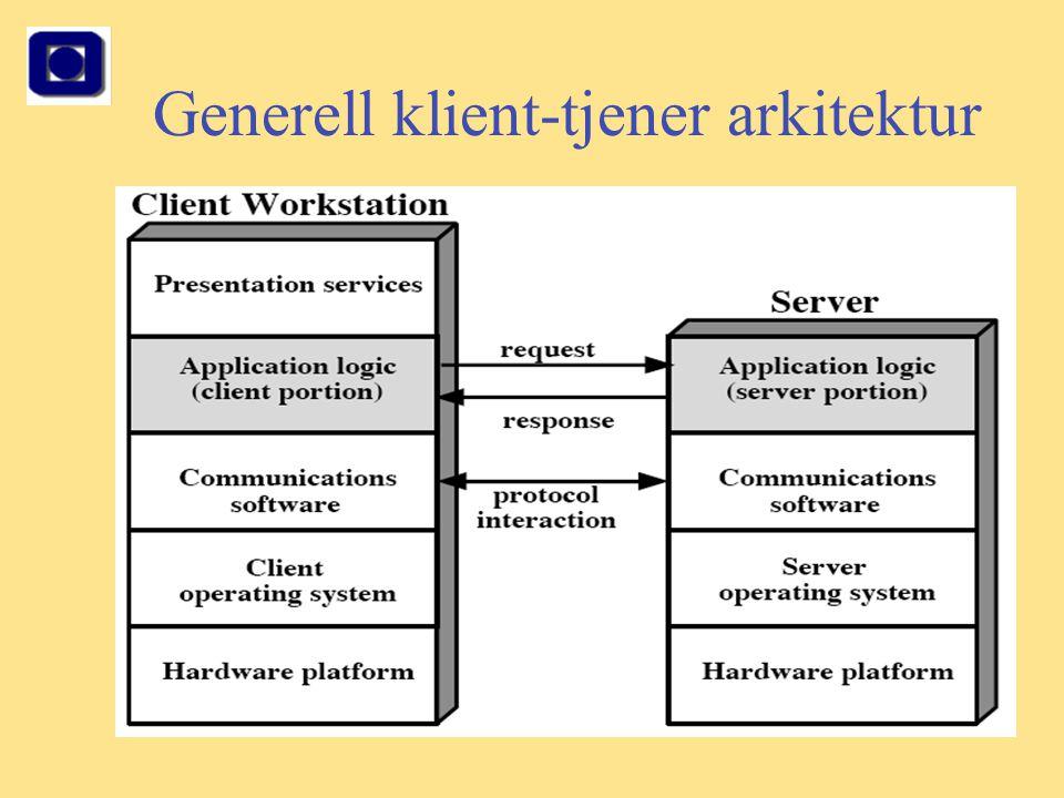 8 Generell klient-tjener arkitektur