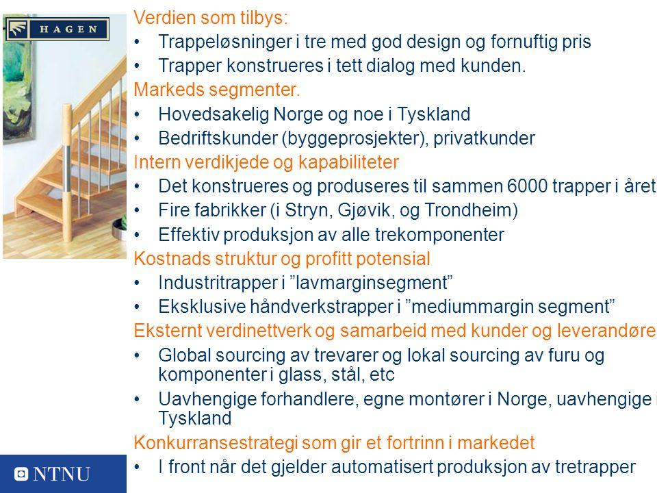 13 Varemerkeiere Verdien som tilbys: Trappeløsninger i tre med god design og fornuftig pris Trapper konstrueres i tett dialog med kunden.