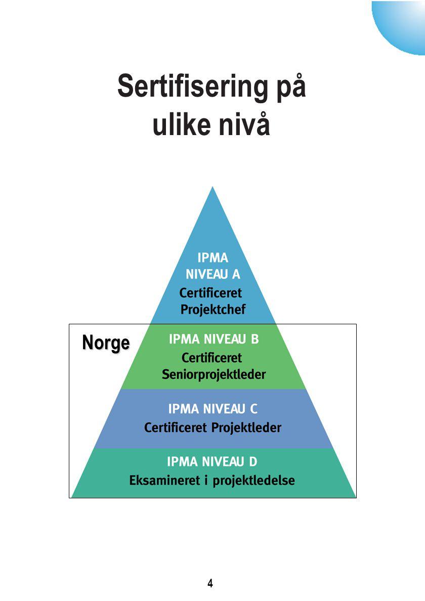 Sertifisering på ulike nivå 4 Norge