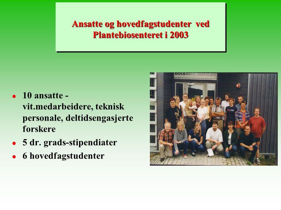 Forelesninger i BI 101 - Våren 2003 Forelesninger i BI 101 - Våren 2003 DE KJEMISKE BYGGESTEINER (Kap.3) Tor-Henning Iversen, Plantebiosenteret (PBS),