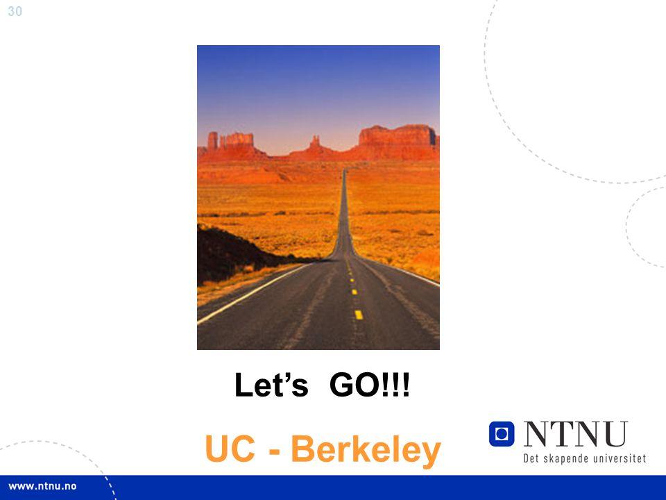 30 Let's GO!!! UC - Berkeley