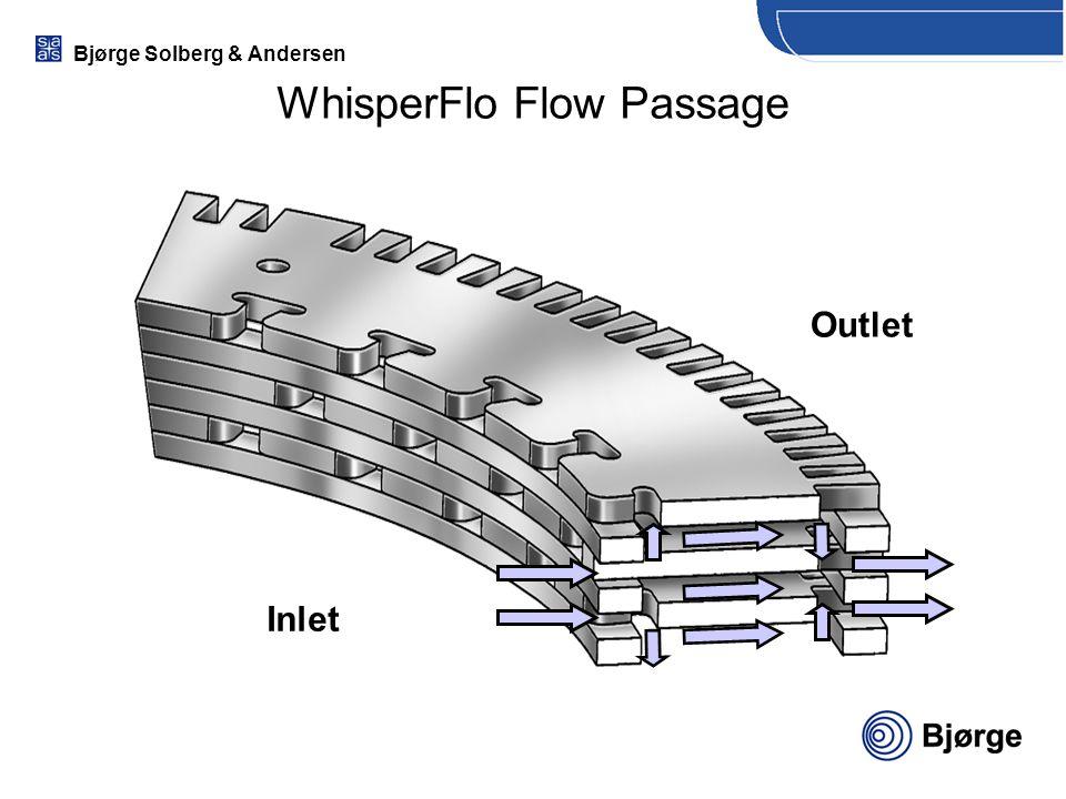 Bjørge Solberg & Andersen WhisperFlo Flow Passage Inlet Outlet