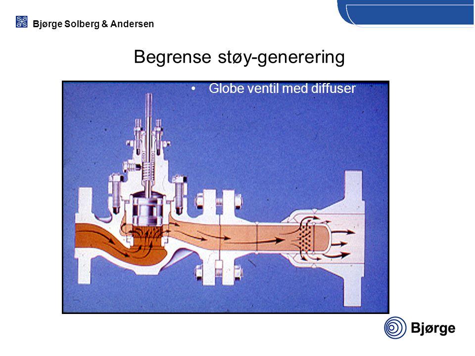 Bjørge Solberg & Andersen Globe ventil med diffuser Begrense støy-generering