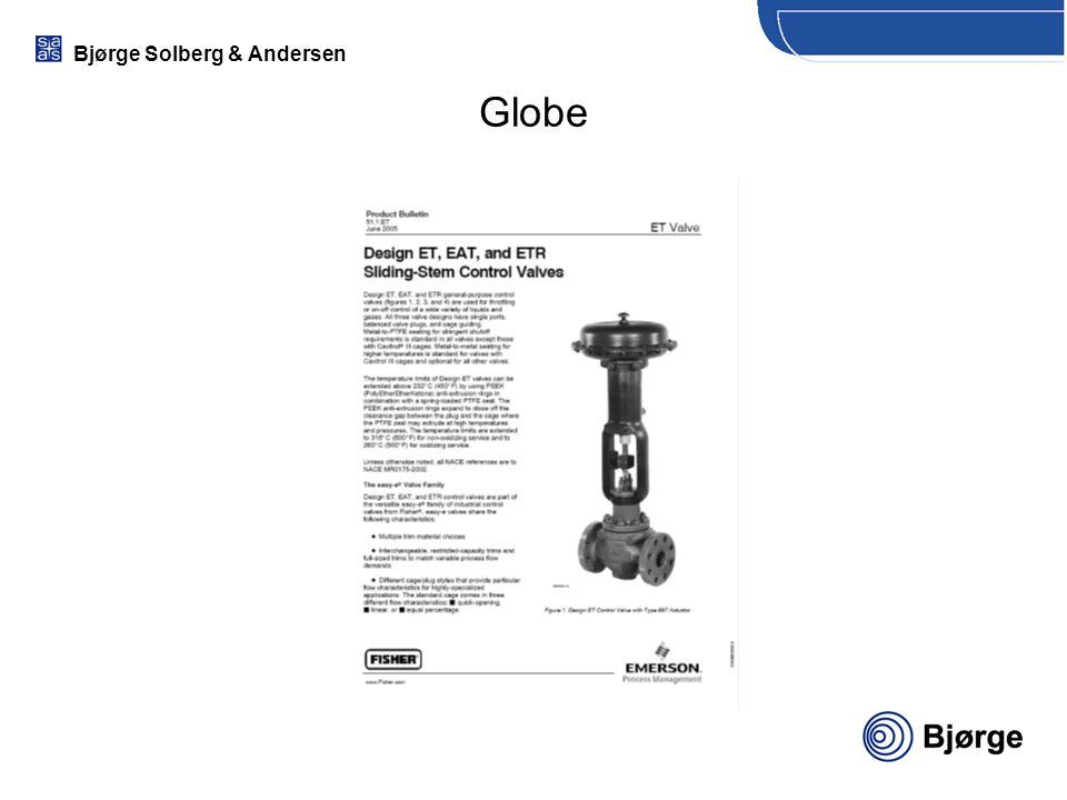 Bjørge Solberg & Andersen Globe