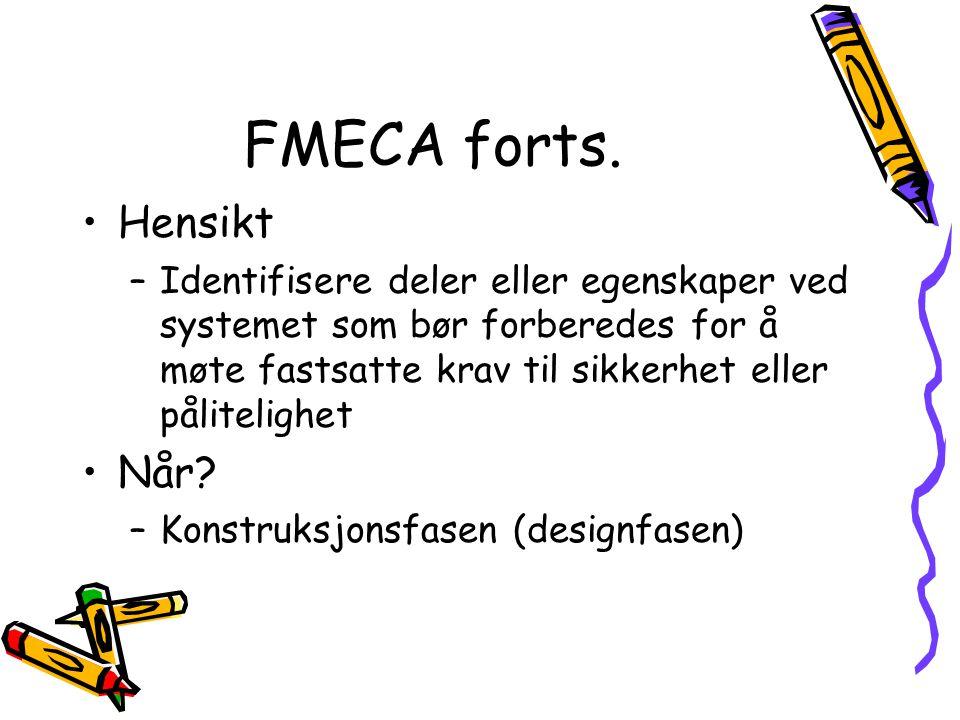 FMECA forts.