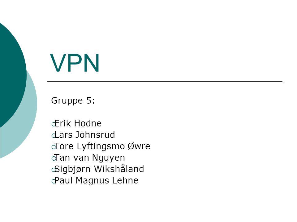Dagsorden  Intro  Organisering av VPN  Lag 2 VPN  Lag 3 VPN  Sikkerhet  Mobilitet i VPN