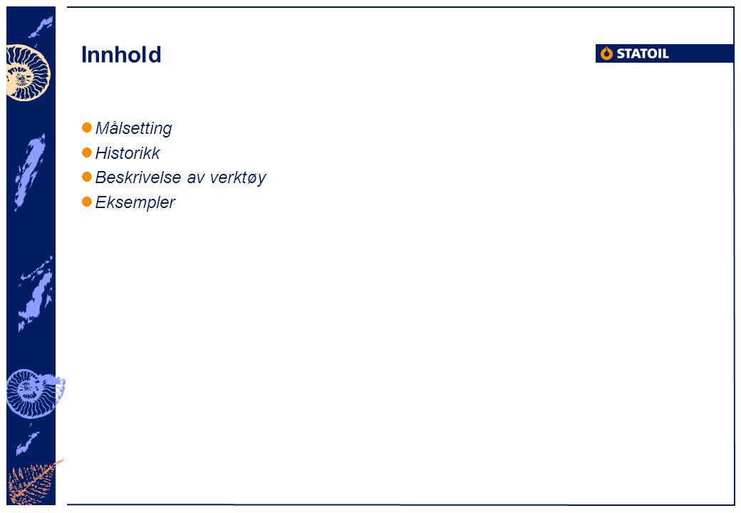 Målsetting Verktøyet WEB Control (WC) har som målsetting å gi: Veiledning i tuning av typiske reguleringssløyfer offshore Økt forståelse for prosessregulering Målgruppe: Operatører/driftsingeniører Utfordring: Språkbruk, enkelt men tilstrekkelig