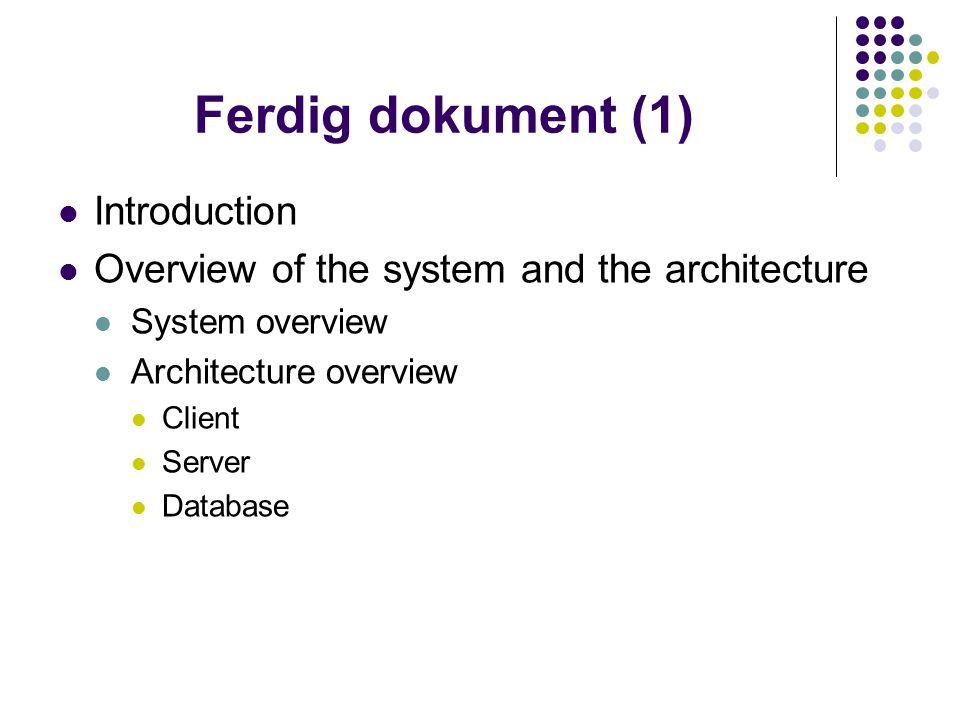 Ferdig dokument (2) Non-functional requirements Div.