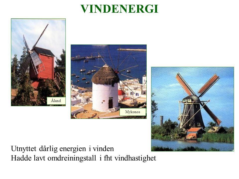 Vindturbin Foto: Ragnar Myhre Tårnhøyde 80 m Rotordiam.