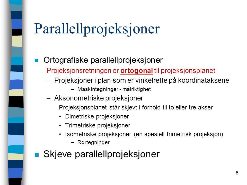 7 Ortografiske projeksjoner