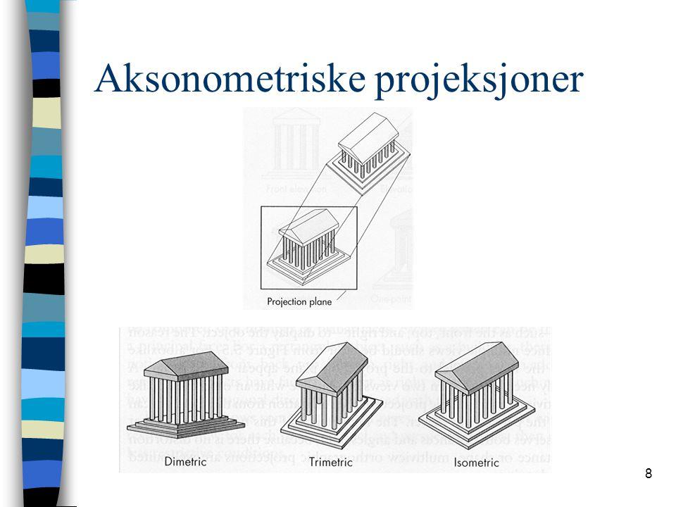 69 Komplett transformasjonsbilde Komplett transformasjonsbilde ved perspektivprojeksjon: glViewport glFrustrum gluLookAt Basistransformasjoner