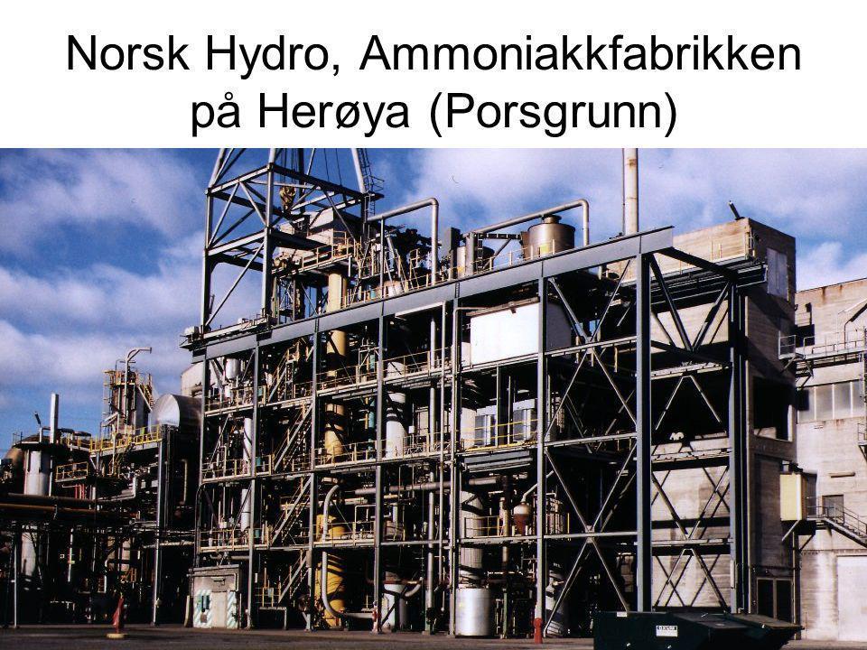 Norsk Hydro, Ammoniakkfabrikken på Herøya (Porsgrunn)