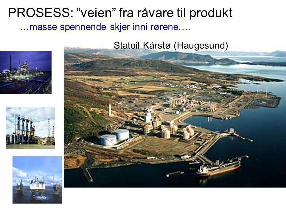 """Statoil Kårstø (Haugesund) PROSESS: """"veien"""" fra råvare til produkt …masse spennende skjer inni rørene…."""