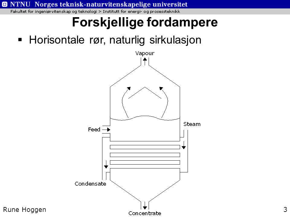 Forskjellige fordampere Rune Hoggen3  Horisontale rør, naturlig sirkulasjon