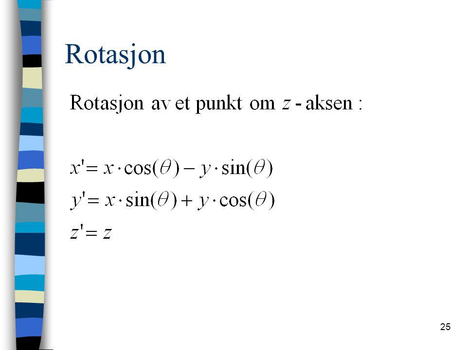25 Rotasjon