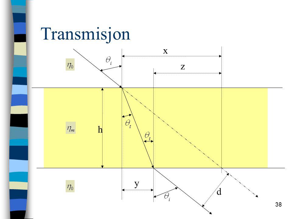 38 Transmisjon h d x z y