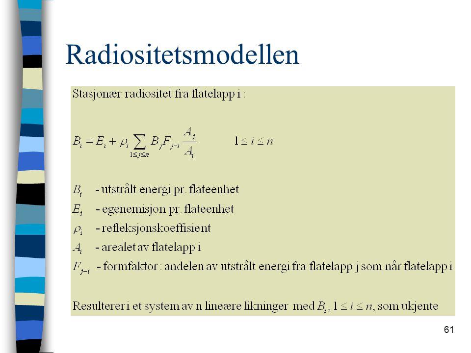 61 Radiositetsmodellen
