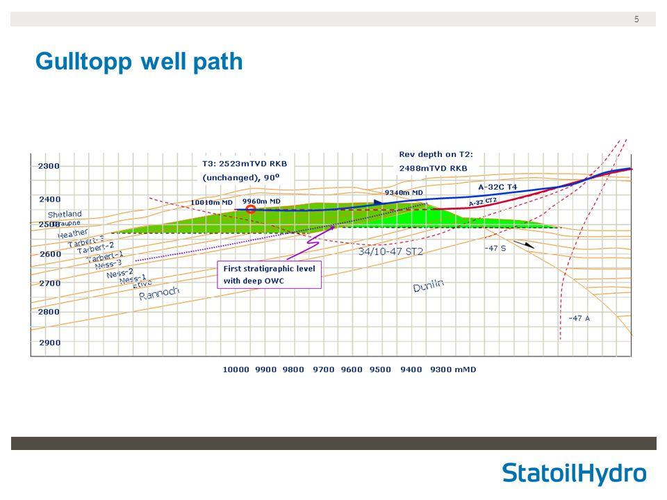 5 Gulltopp well path
