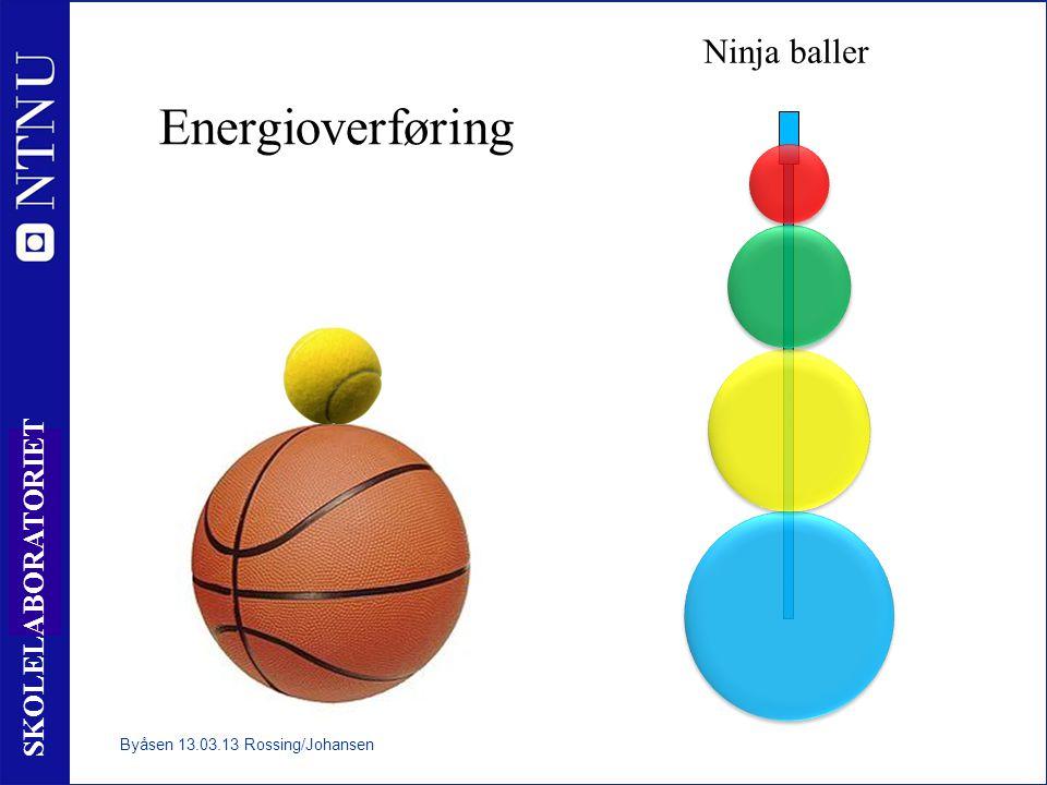 11 SKOLELABORATORIET Energioverføring Ninja baller Byåsen 13.03.13 Rossing/Johansen