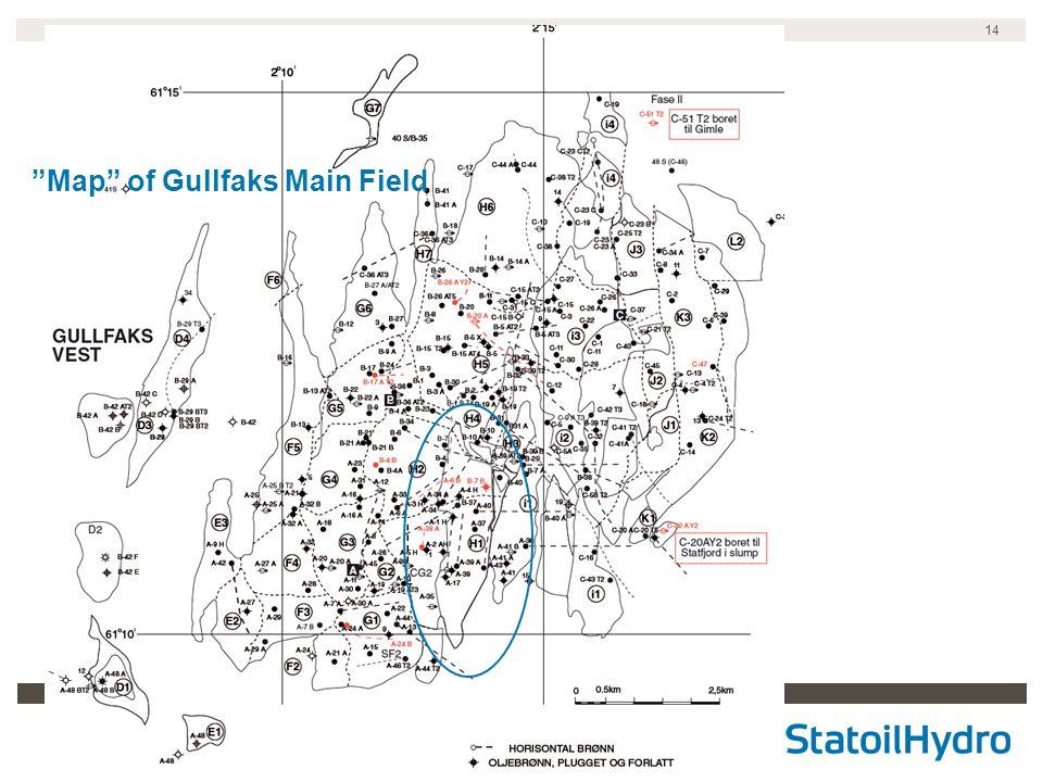 14 Map of Gullfaks Main Field