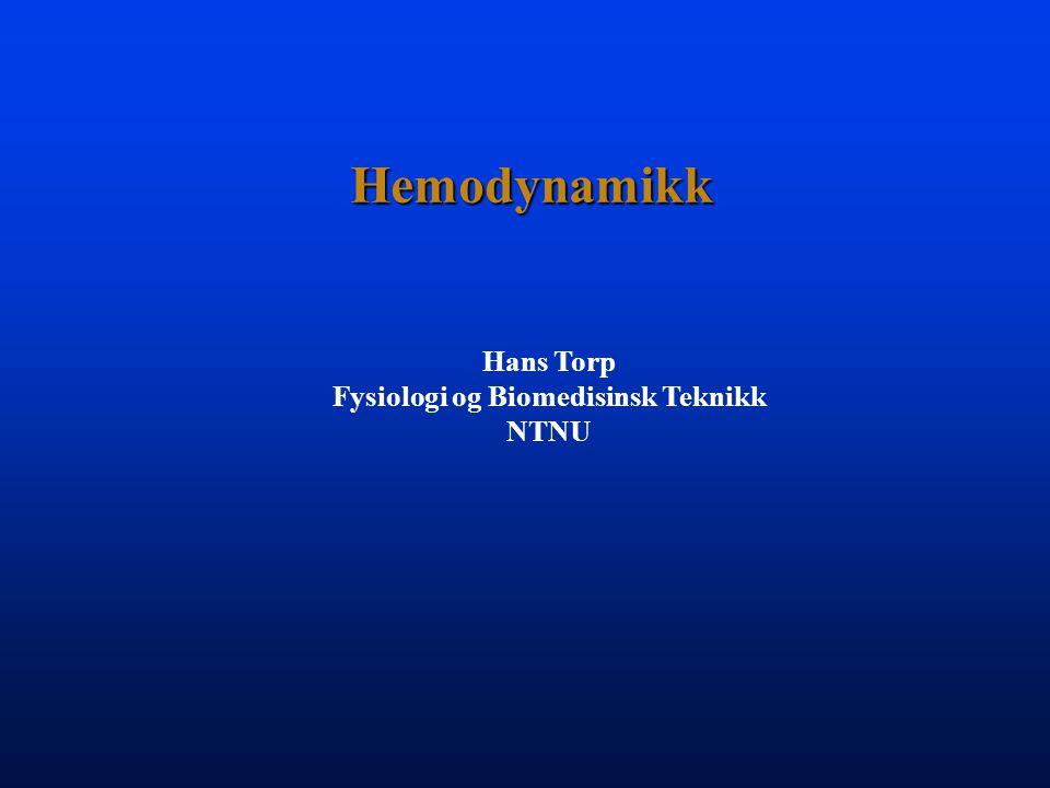 Hemodynamikk Hemo av Haima = BlodHemo av Haima = Blod Dynamikk av Dynamis ~ Kraft som gir opphav til bevegelseDynamikk av Dynamis ~ Kraft som gir opphav til bevegelse Blodtrykk gir opphav til blodstrømBlodtrykk gir opphav til blodstrøm spenning strøm