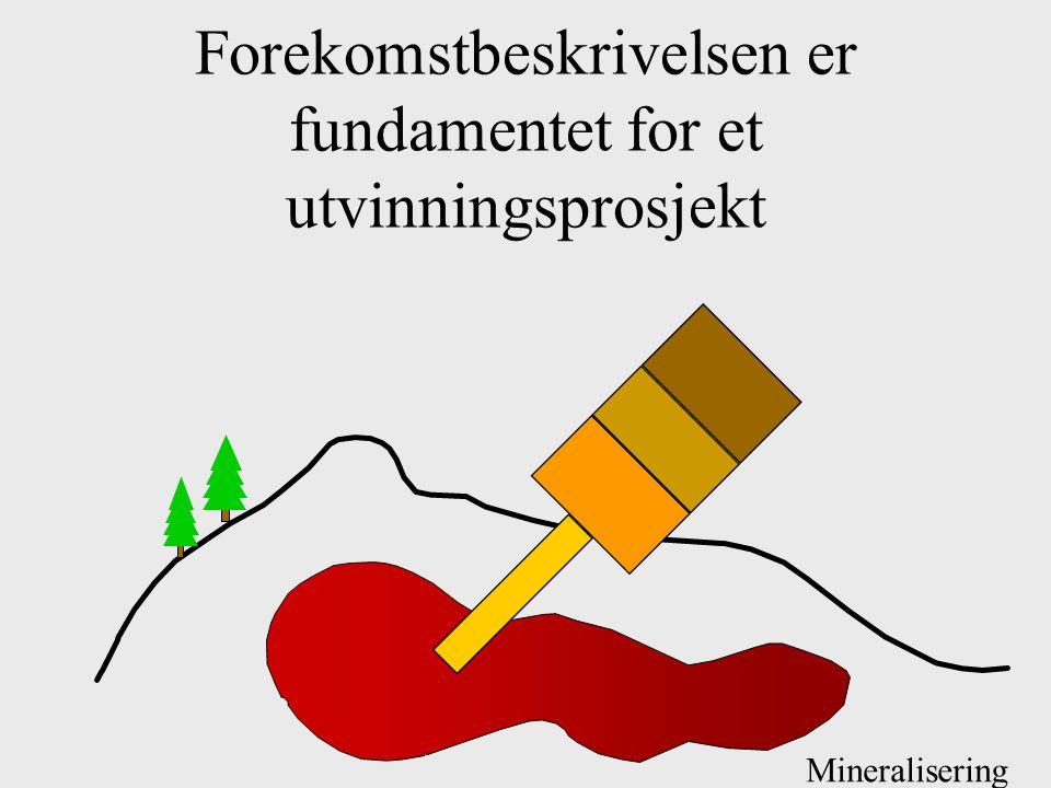 Forekomstbeskrivelsen er fundamentet for et utvinningsprosjekt Mineralisering