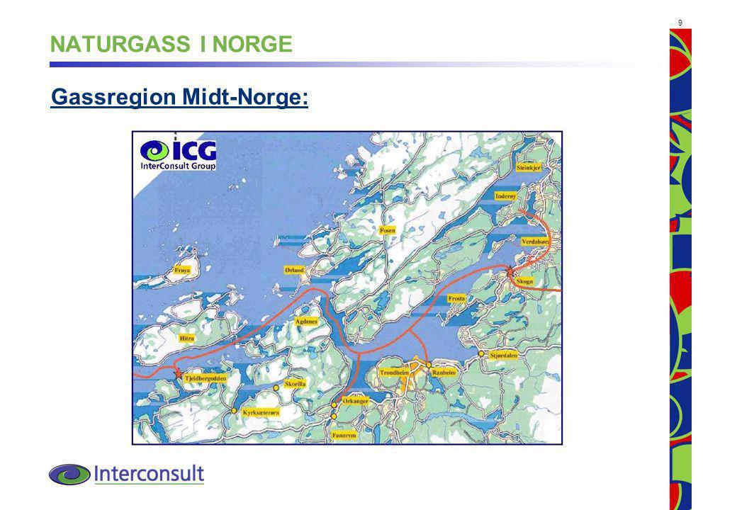9 NATURGASS I NORGE Gassregion Midt-Norge: