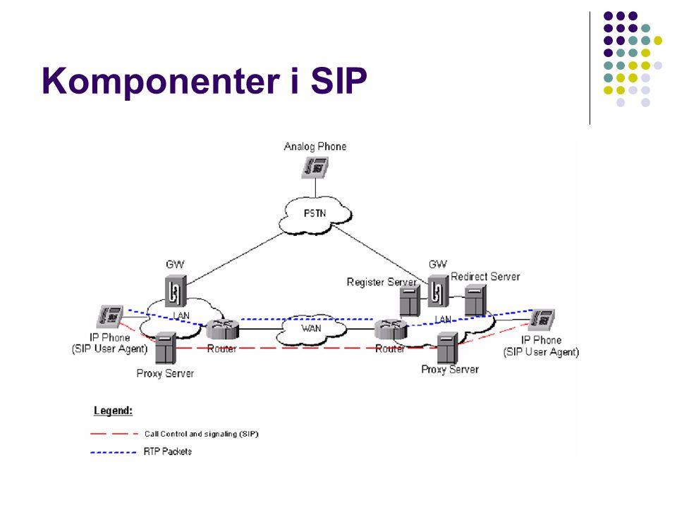 Komponenter i SIP