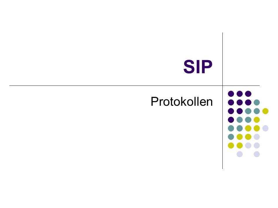 SIP protokollen SIP protokoll-stack Kva inneheld SIP Kva inneheld SDP MSCar