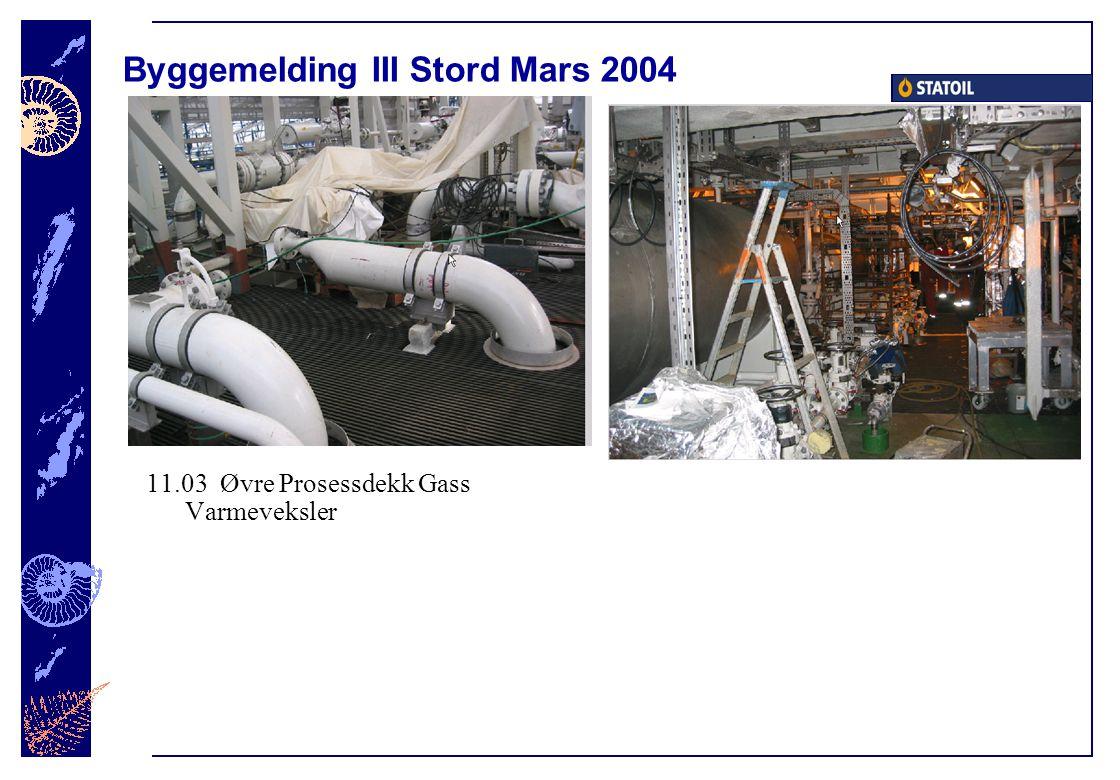 Byggemelding III Stord Mars 2004 11.03 Øvre Prosessdekk Gass Varmeveksler