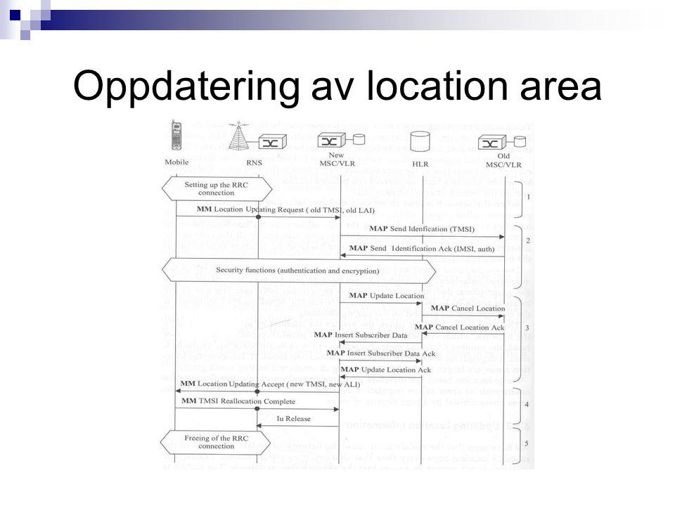 Oppdatering av location area