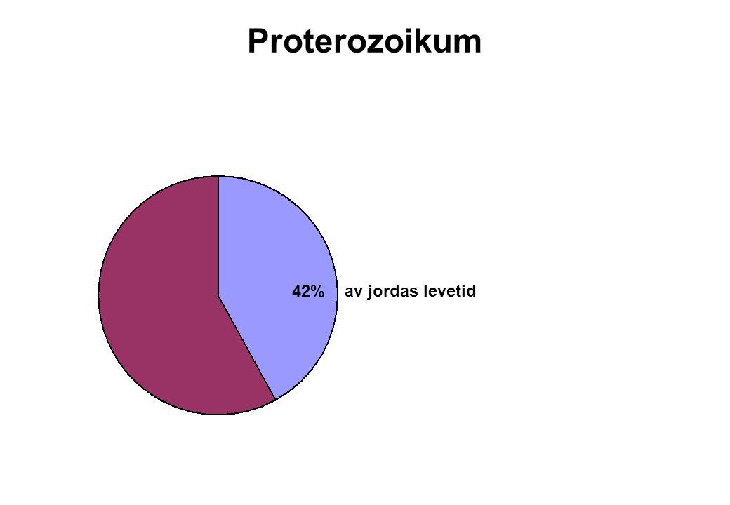 10 Proterozoikum 42% av jordas levetid