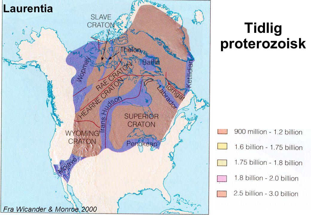 13 Tidlig proterozoisk Fra Wicander & Monroe 2000 Laurentia